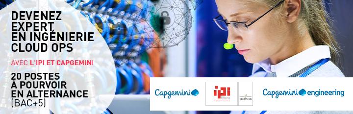 Expert Ingénierie Cloud Ops en partenariat avec Capgemini à IPI Toulouse